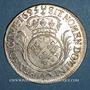 Monnaies Louis XIV (1643-1715). 1/2 écu aux palmes 1695 X. Amiens. Réformation