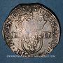 Monnaies Louis XIV (1643-1715). 1/4 d'écu 1645 MA. Marseille