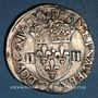 Monnaies Louis XIV (1643-1715). 1/4 d'écu à la croix feuillue 1644 &. Aix