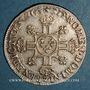 Monnaies Louis XIV (1643-1715). 1/4 d'écu aux 8 L,  2e type, 1704 Z Grenoble. Réformation