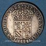 Monnaies Louis XIV (1643-1715). 1/4 d'écu de Flandre 1686 LL. Lille