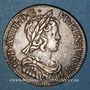 Monnaies Louis XIV (1643-1715). 1/4 écu à la mèche courte 1645 A. Point initial au revers