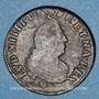 Monnaies Louis XIV (1643-1715). 4 deniers de Strasbourg 1708 BB. Légende latine