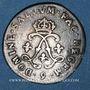 Monnaies Louis XIV (1643-1715). 4 sols aux 2 L 1691. Rennes. Réformation.