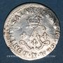 Monnaies Louis XIV (1643-1715). 4 sols aux 2 L 1693 X. Amiens