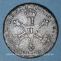 Monnaies Louis XIV (1643-1715). 6 deniers dits dardenne 1710 H. La Rochelle. R !