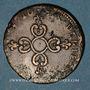 Monnaies Louis XIV (1643-1715). 6 deniers dits dardenne 1710&. Aix