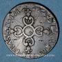 Monnaies Louis XIV (1643-1715). 6 deniers dits dardenne 1712&. Aix
