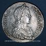 Monnaies Louis XIV (1643-1715). Ecu à la mèche longue 1647 H. La Rochelle