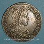 Monnaies Louis XIV (1643-1715). Ecu à la mèche longue 1648 B. Rouen