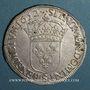 Monnaies Louis XIV (1643-1715). Ecu à la mèche longue 1652 S. Troyes
