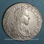 Monnaies Louis XIV (1643-1715). Ecu à la mèche longue 1652S. Reims