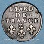 Monnaies Louis XIV (1643-1715). Liard de France au buste âgé, 3e type, 1698. Besançon