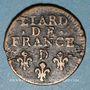 Monnaies Louis XIV (1643-1715). Liard de France au buste âgé, 3e type, 1699 D. Lyon