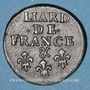 Monnaies Louis XIV (1643-1715). Liard de France au buste âgé, 3e type 1699&. Aix. Avec soleil. Var flan épais