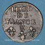 Monnaies Louis XIV (1643-1715). Liard de France au buste âgé, 3e type, 1699&. Aix. Avec soleil