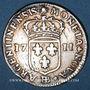Monnaies Louis XIV (1643-1715). Monnayage particulier de Strasbourg. 11 sols 1711 BB