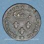 Monnaies Louis XIV (1643-1715). Monnayage particulier de Strasbourg. 2 deniers 1708 BB