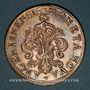 Monnaies Louis XIV (1643-1715). Monnayage particulier de Strasbourg. 34 sols aux palmes 1695BB. Réformation