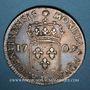 Monnaies Louis XIV (1643-1715). Monnayage particulier de Strasbourg. 44 sols de Strasbourg 1709BB