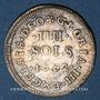 Monnaies Louis XIV (1643-1715). Monnayage particulier de Strasbourg. IIII sols de Strasbourg 1682