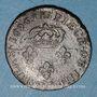 Monnaies Louis XIV (1643-1715). Monnayage particulier de Strasbourg. Quatre deniers 1696 BB