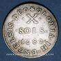 Monnaies Louis XIV (1643-1715). Monnayage particulier de Strasbourg. X sols de Strasbourg 1682