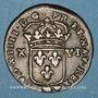 Monnaies Louis XIV (1643-1715). Monnayage particulier de Strasbourg. XVI deniers de Strasbourg 1708 BB