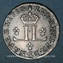 Monnaies Louis XIV (1643-1715). Pièce de 30 deniers dite mousquetaire 1710 AA. Metz