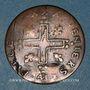 Monnaies Louis XIV (1643-1715). Pièce de 30 deniers dite mousquetaire 1711 AA. Metz. Faux d'époque !