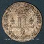 Monnaies Louis XIV (1643-1715). Pièce de 30 deniers dite mousquetaire 1711 D. Lyon