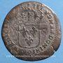 Monnaies Louis XIV (1643-1715). Quinzain aux 8L, surfrappé sur une ancienne monnaie. Y : Bourges