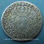 Monnaies Louis XV (1715-1774). 1/10 écu aux lauriers 1727 D. Lyon