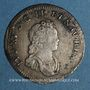 Monnaies Louis XV (1715-1774). 1/10 écu vertugadin 1716 BB. Strasbourg