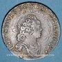 Monnaies Louis XV (1715-1774). 1/10 écu vertugadin 1716A. Réformation