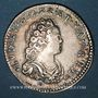 Monnaies Louis XV (1715-1774). 1/10 écu vertugadin 1716&. Aix. Réformation !