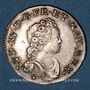 Monnaies Louis XV (1715-1774). 1/10 écu vertugadin 1716P. Dijon. Réformation !