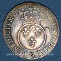 Monnaies Louis XV (1715-1774). 1/10 écu vertugadin 1717 G. Poitiers. Réformation