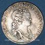 Monnaies Louis XV (1715-1774). 1/10 écu vertugadin 1717G. Poitiers. Réformation
