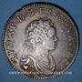 Monnaies Louis XV (1715-1774). 1/2 écu vertugadin 1716 &. Aix. Réformation