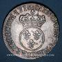 Monnaies Louis XV (1715-1774). 1/2 écu vertugadin 1716. Rennes. Réformation