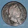 Monnaies Louis XV (1715-1774). 1/2 sol à la vieille tête 1769. Besançon