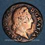 Monnaies Louis XV (1715-1774). 1/2 sol à la vieille tête 1771 AA. Metz
