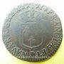 Monnaies Louis XV (1715-1774). 1/2 sol à la vieille tête 1771 BB. Strasbourg