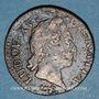 Monnaies Louis XV (1715-1774). 1/2 sol à la vieille tête 1771. Besançon
