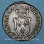 Monnaies Louis XV (1715-1774). 1/2 sol d'Aix 1768 &