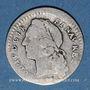 Monnaies Louis XV (1715-1774). 1/20 écu au bandeau 1744A