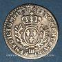 Monnaies Louis XV (1715-1774). 1/20 écu daux lauriers 1731 BB. Strasbourg