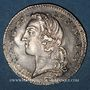 Monnaies Louis XV (1715-1774). 1/5 écu au bandeau 17570. Besançon