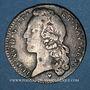 Monnaies Louis XV (1715-1774). 1/5 écu au bandeau 1766&. Aix